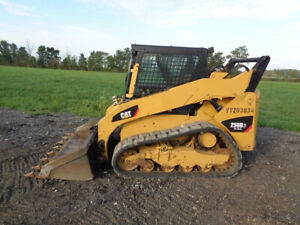 2012 Caterpillar 259b3 Skid Steer Loader Cab heat air 2 Speed Hyd Qc 74hp