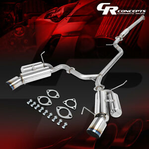 4 5 Dual Muffler Tip Pipe Catback Racing Exhaust System For 04 08 Acura Tsx