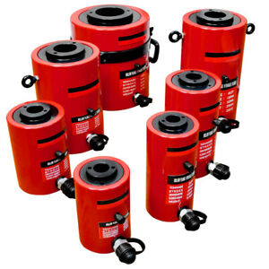 30 Ton Hollow Plunge Hydraulic Cylinder 50mm Stroke 210mm Closed Height