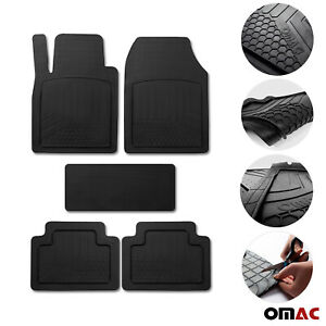 Car Floor Mats For Hyundai All Weather Semi Custom Black Trimmable Fits 5 Pcs