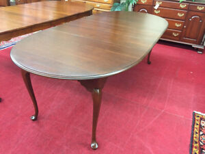 Hitchcock Solid Cherry Dining Table Three Leaves Delivery Available