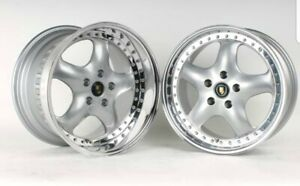 5x112 17 Speedline Deep Dish Rh Artec Staggered Rims Mercedes Audi Vw