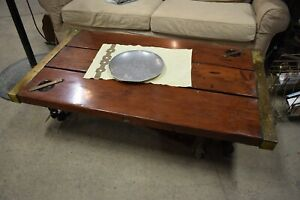 Vintage Boat Hatch And Chain Coffee Table