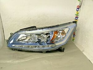 Oem 2013 2014 2015 Honda Accord Hybrid Blue Left Lh Full Led Headlight All Tabs