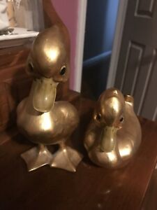Vintage Anthony Freeman McFarlin Gold Anthony USA Ceramic Ducks signed 125126