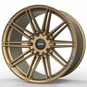 20 Momo Rf 10s Gold 20x9 20x10 5 Forged Concave Wheels Rims Fits Nissan Gt r