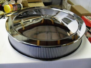 New Drop Base 16 X 3 Chrome Dominator Air Cleaner For 7 25 4500 Holley Drag