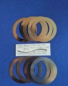 Lower Bearing Shim Set Of 10 For Hobart Meat Saw 5016 5216 5614 Replace 123192 x