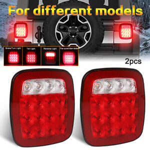 Led Tail Lights Turn Signal Rubicon Offroad For 76 06 Jeep Wrangler Cj Yj Tj Jk
