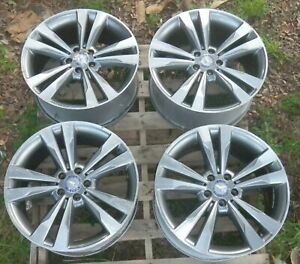 Set 4 Mercedes S400 S550 S600 2014 2018 19 Factory Oem Wheels Rims Staggered