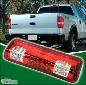 For 2004 2008 Ford F150 Led 3rd Third Brake Tail Light Red White Cargo Lamp
