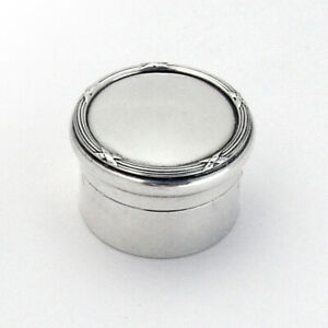 English Ribbon Thread Small Dresser Jar Mappin Webb Sterling 1911