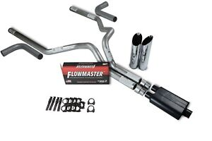Dodge Ram 1500 94 03 3 Dual Exhaust Kits Flowmaster Super 44 Slash Tip Side Ex