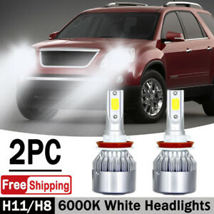 For Gmc Acadia 2007 2012 H11 Led Headlight Bulbs Low Beam