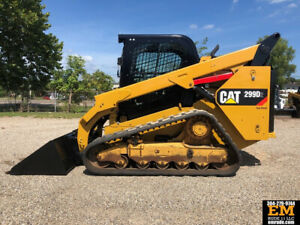 2016 Caterpillar 299d2 Rubber Track Crawler Skid Steer Loader Cab Ac Cat Diesel