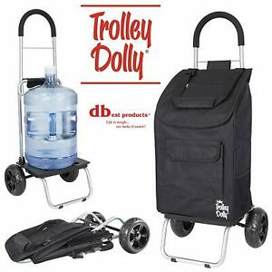 Products Trolley Dolly Shopping Cart Foldable Grocery For Adults Elderly Black