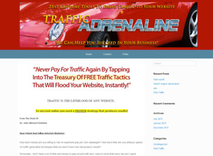 Turnkey Internet Marketing Website traffic Adrenaline For Sale