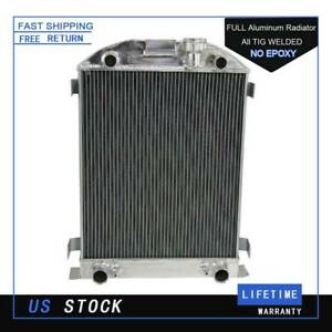 4 Row Radiator For Ford Flathead Engine Flat Head Stock Height 1937 1938 37 38