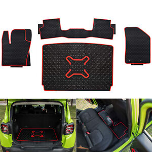 All Weather Rubber Cargo Liner Tray Trunk Floor Mats For 2015 2019 Jeep Renegade