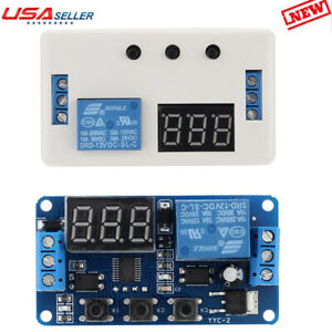 Dc 12v Led Automation Delay Timer Control Switch Relay Module With Case Us M0j1