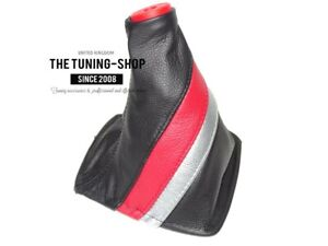 Shift Boot For Toyota Celica 1999 2005 Trd Stripes Top Plastic Ring Red