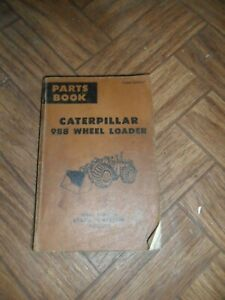 Cat Caterpillar 988 Wheel Loader Parts Book Manual S n 87a00531 To 87a02384