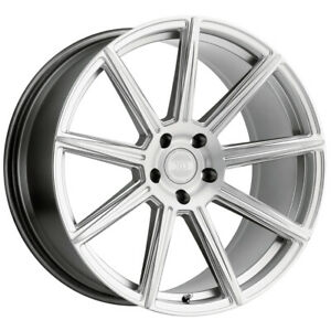 Staggered xo Vegas F 20x9 r 20x10 5 5x112 20mm Silver brushed Wheels Rims