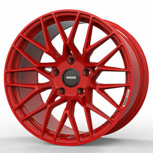 19 Momo Rf 20 Red 19x8 5 19x10 Concave Forged Wheels Rims Fits Ford Mustang Gt