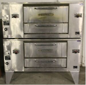 Bakers Pride Middleby Double Stack Pizza Ovens With Stones