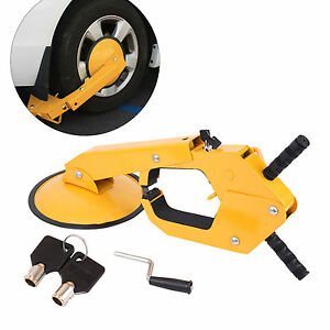 Wheel Tire Boot Lock Clamp Claw For Car Boat Truck Trailer Anti Theft W 2 Keys