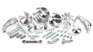 March Performance Aluminum Bbc Serpentine Ultra Mid Mount Pulley Kit P N 23063