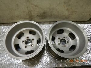15x10 Pair Western Slot Mag Wheels 5 On 4 75 5 On 5 Chevy Ss Camaro 442 Nova