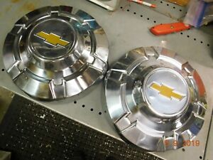 69 76 Chevy C 20 3 4 Ton 12 Pickup Truck Dog Dish Hubcaps Poverty Hub Caps Gm
