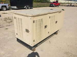 Generac 25 Kw Propane Ng Generator 237 Hours Single Phase Gm Engine