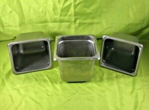 Stainless Steel Steam Table Pans 1 6 Size 6 Deep Vollrath Royal Lot Of 3