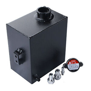Universal Aluminum Coolant Radiator Overflow Tank Recovery Water Bottle 2 5l