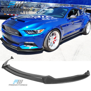 Fits 15 17 Ford Mustang Shelby Style Front Bumper Lip Pu