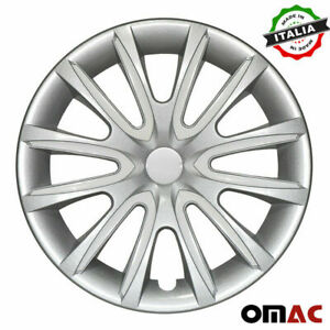 15 Inch Hubcaps Wheel Rim Cover For Nissan Gray With White Insert 4pcs Set