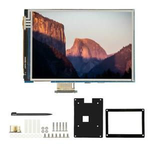 3 5 1080p Lcd 60 Fps Touch Screen Display Acrylic Case Kit For Raspberry Pi 4b