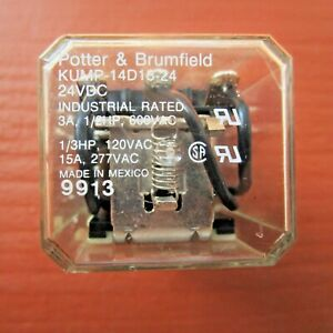 Potter Brumfield Kump 14d18 24 Relay 24vdc Industrial Rated