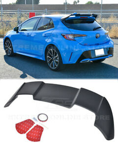 Jdm Rear Roof Window Wing Spoiler For 19 Up Toyota Corolla Hatchback Abs Plastic