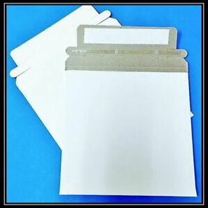 1 100 200 400 1000 5000 6x6 Rigid Flat Photo Mailers Self seal White