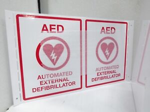 Universal Aed Cabinet Wal Mounted Has Alarm And Key Fits Aed Models Nib Nos