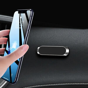 Strip Shape Magnetic Car Phone Holder Stand For Iphone Magnet Mount Parts Silver