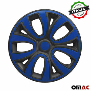 15 Inch Wheel Rim Cover For Toyota Matt Black With Dark Blue Insert 4pcs Set