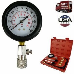 Car Engine Oil Pressure Tester Engine Gauge Diagnostic Test Tool Kit 500psi Us