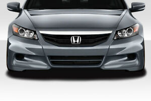 Duraflex Hfp Look Front Lip Under Spoiler Air Dam 2pc For 2011 2012 Accord 2dr