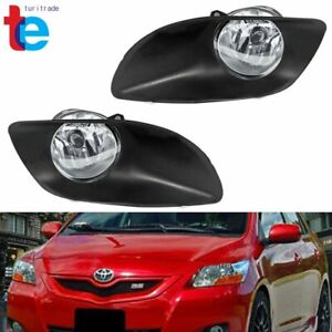 Us Pair Clear Fog Lights Switch Kit For 2006 2008 Toyota Yaris 4dr New