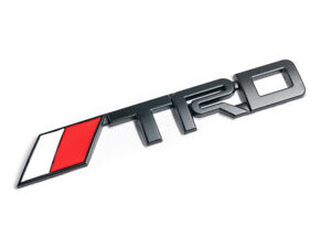 6 Black Trd Toyota Racing 3d Emblem Decal Trunk Metal Badge Sticker Large Abs