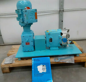 Waukesha Model 030 Positive Displacement Pump W 1 Hp Motor And Gear Drive Unused